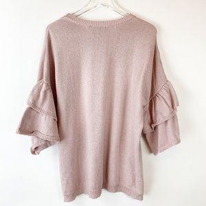 Eloquii Tiered Ruffle Sleeve Sweater 18/20